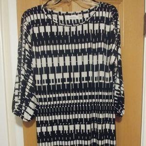Calvin Klein Jersey Dress With Open Sleeves Sz 8